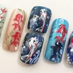 「夏ネイル」金魚ネイルデザインで涼しく可愛い指先になる♪