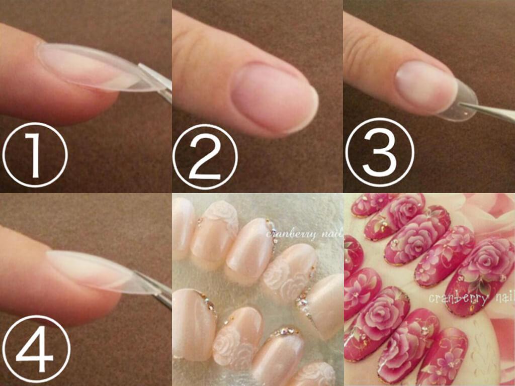 爪の形に合わせて作るオーダーメイドのネイルチップ
