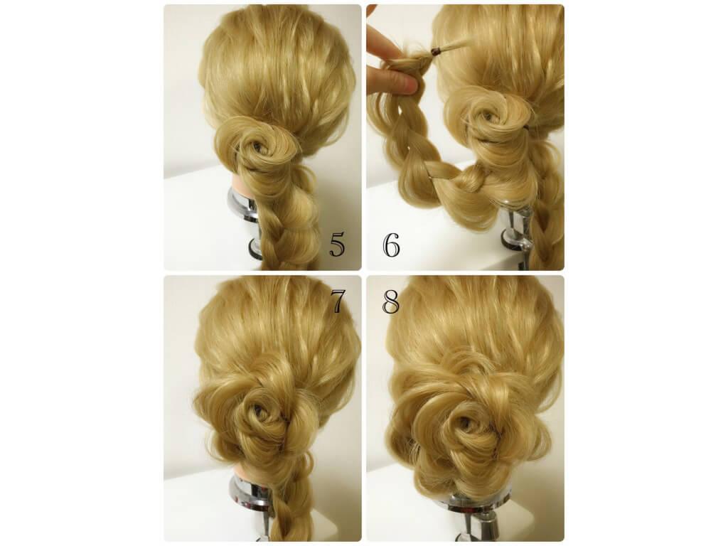 花びらを立体的に作るには、アウトラインの毛束がポイント!
