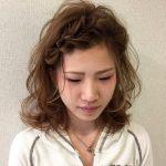 """""""編み込み風""""前髪アレンジがくるりんぱだけで簡単に作れる♪"""