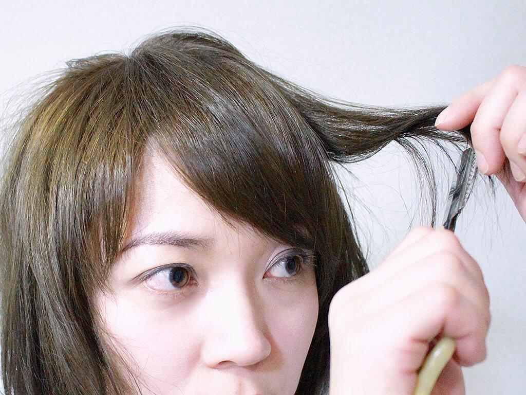 前髪 カット ハサミ
