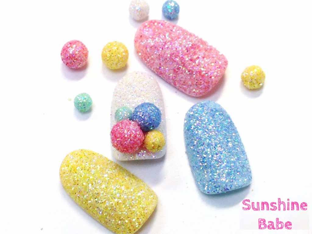 【セルフネイル③】まるで砂糖菓子みたいなシュガーネイル