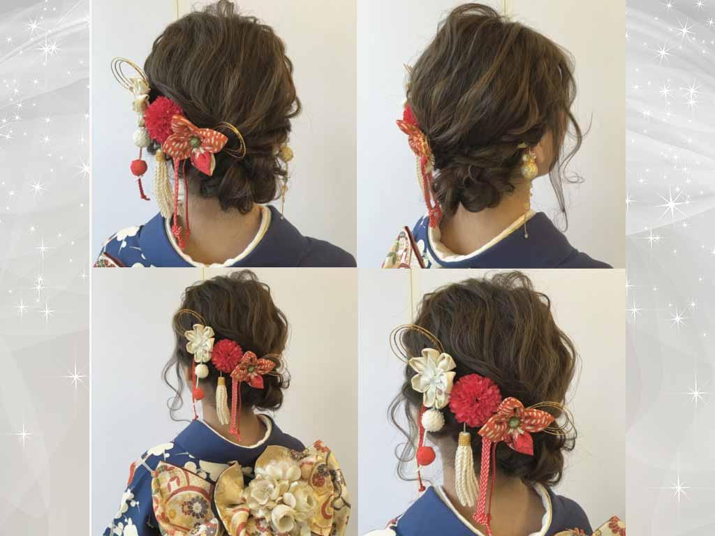 着物にも合う♪こなれ感&可愛いヘアスタイル
