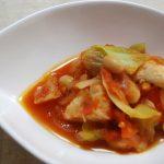 食物繊維で糖や脂肪の吸収をマイナス!大豆とキャベツのトマト煮