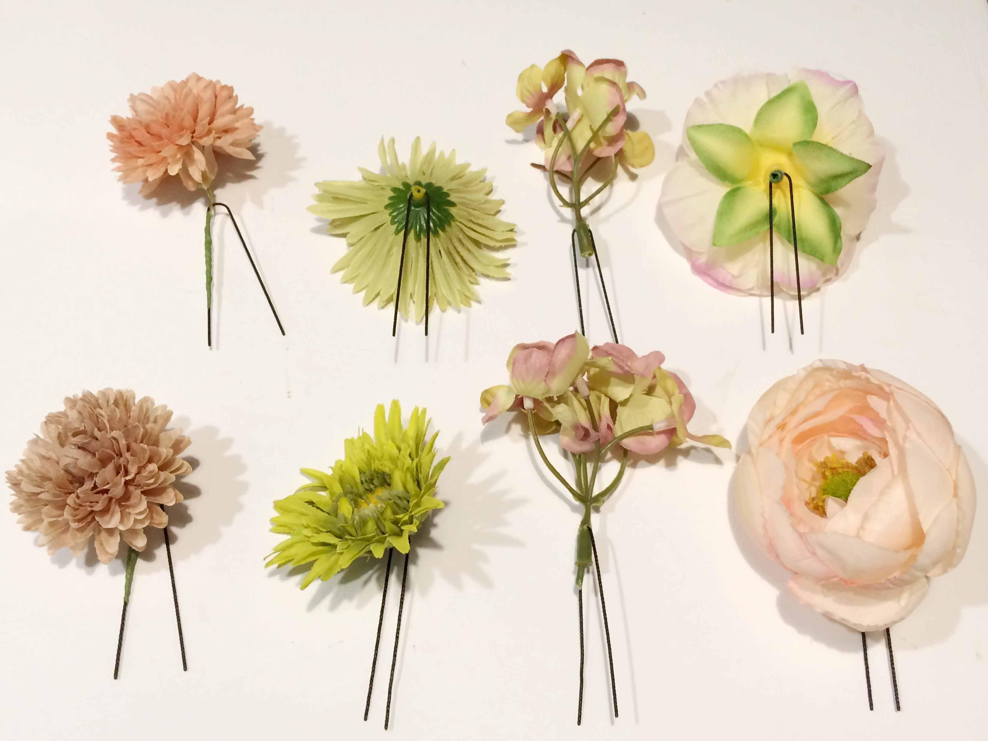セルフでできる!造花をヘアアクセにする簡単な作り方