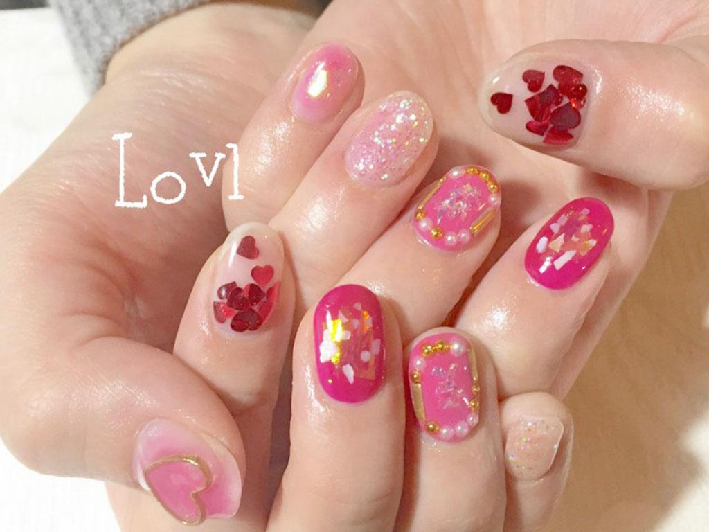 春トレンドにはネイルもピンクが可愛い♪