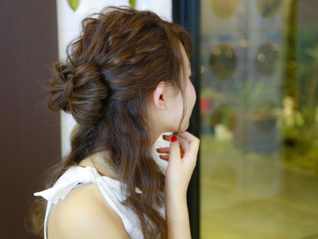 自毛で作るから可愛く仕上がるリボンヘア