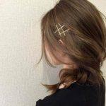 ショートにもまとめ髪にも♪オシャレ女子のゴールドピンの留め方