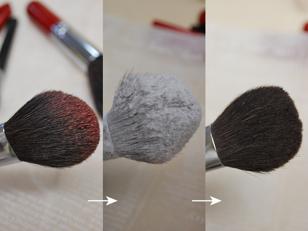 汚れたブラシがキレイに♪簡単にできるブラシの洗い方
