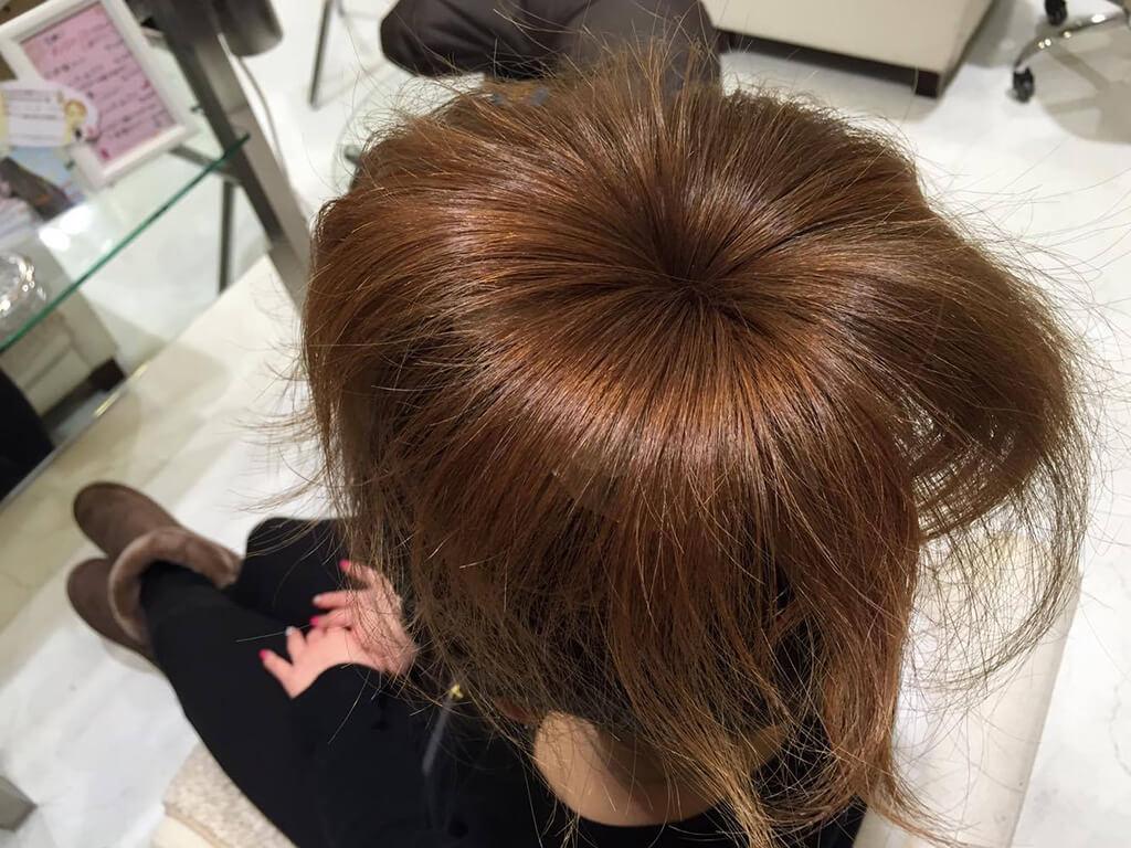 お団子ヘアアレンジ手順②