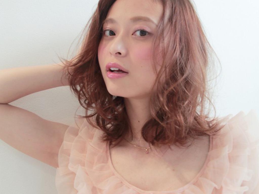 ピンク×ブルーの織りなす絶妙な空気感♪