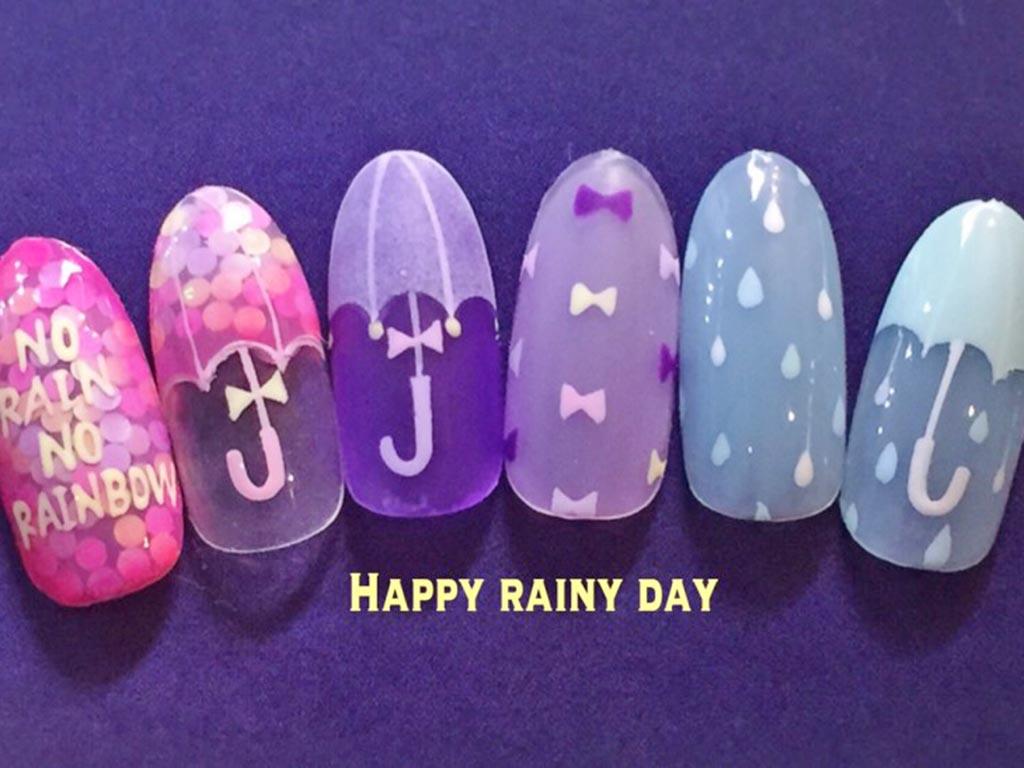 雨の日が楽しみになる! Happy rainy nailに挑戦♪