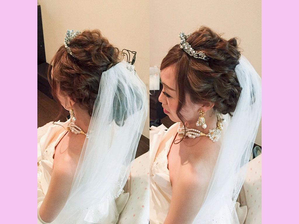 花嫁さんのヘアアレンジにもぴったり♪華やかスタイル
