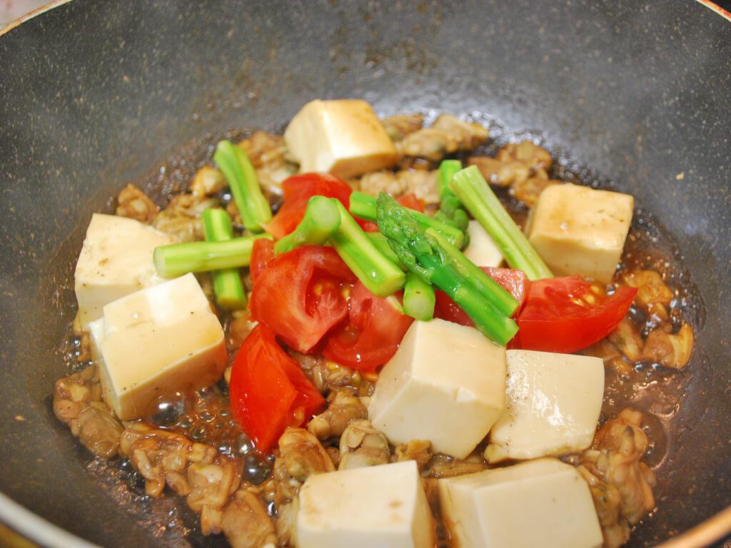 アスパラガスとあさり豆腐のあんかけの作り方