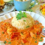 キレイ効果の最強コンビ♪海老のトマトクリーム煮レシピ