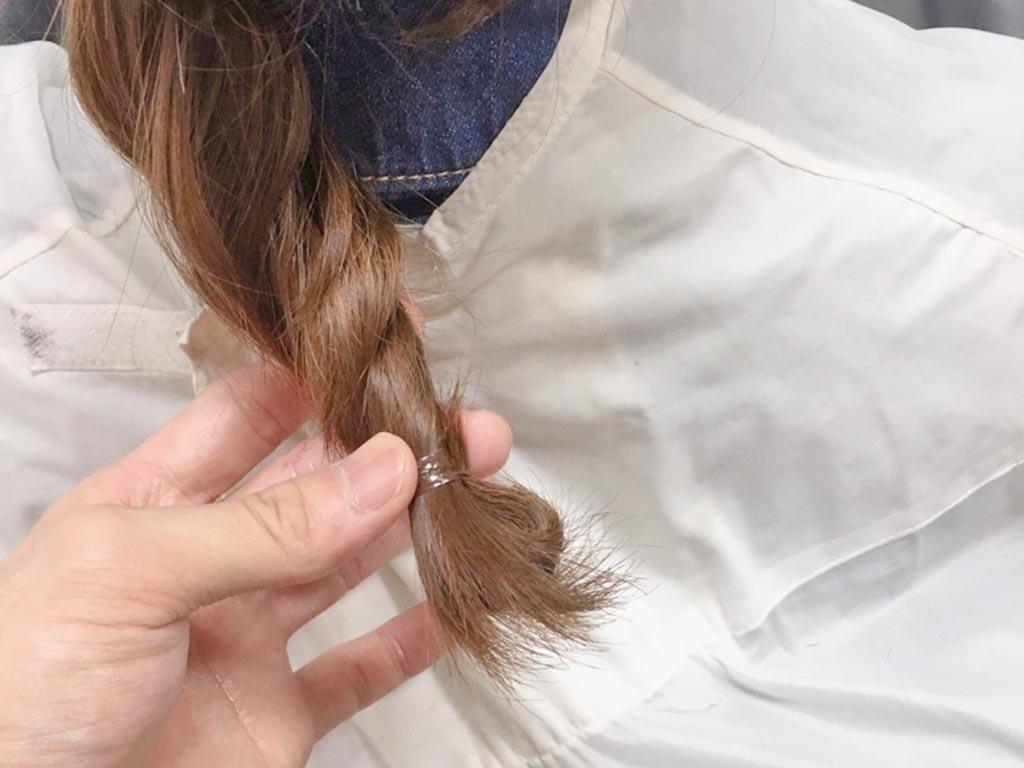 夏もすっきり♪まとめ髪の手順8