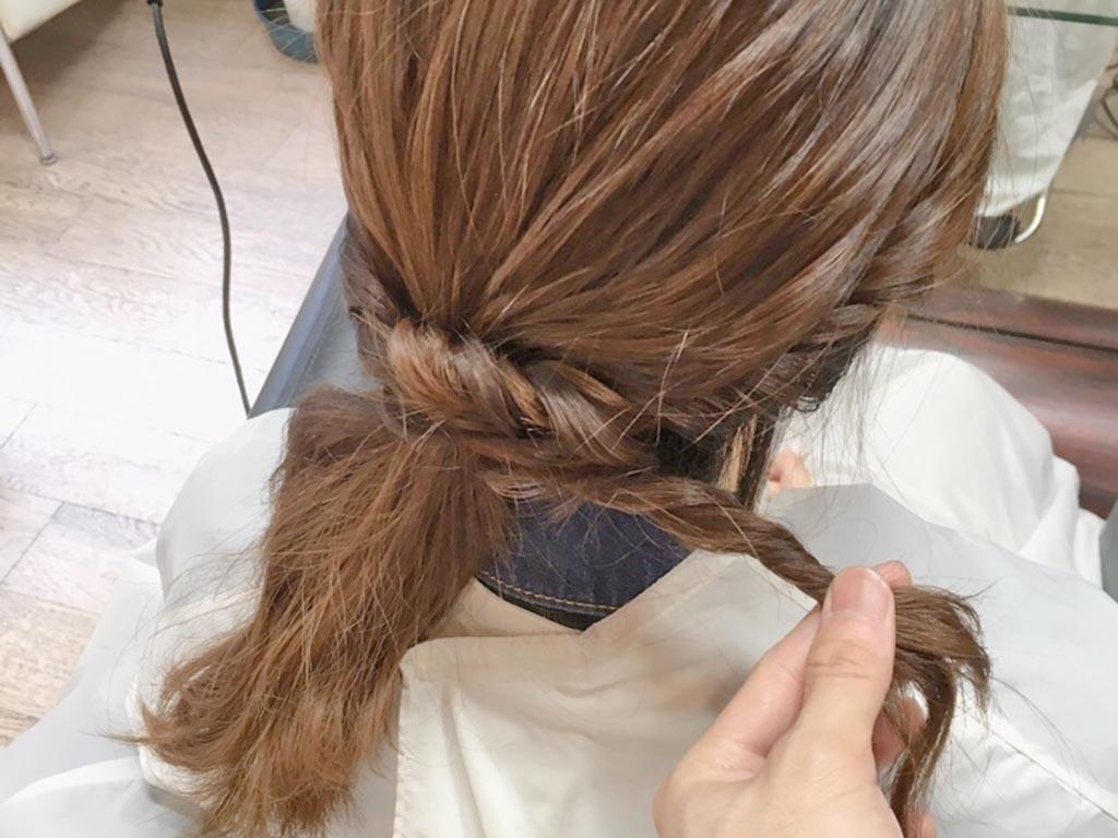 夏もすっきり♪まとめ髪の手順5