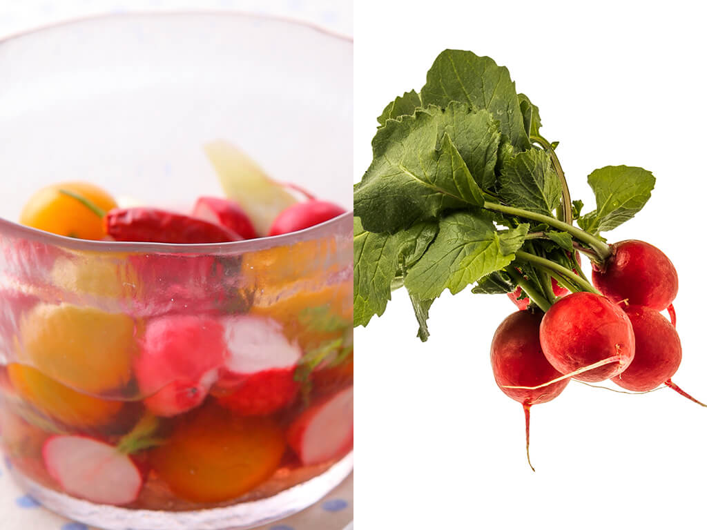 ラディッシュとプチトマトの和風マリネのレシピ