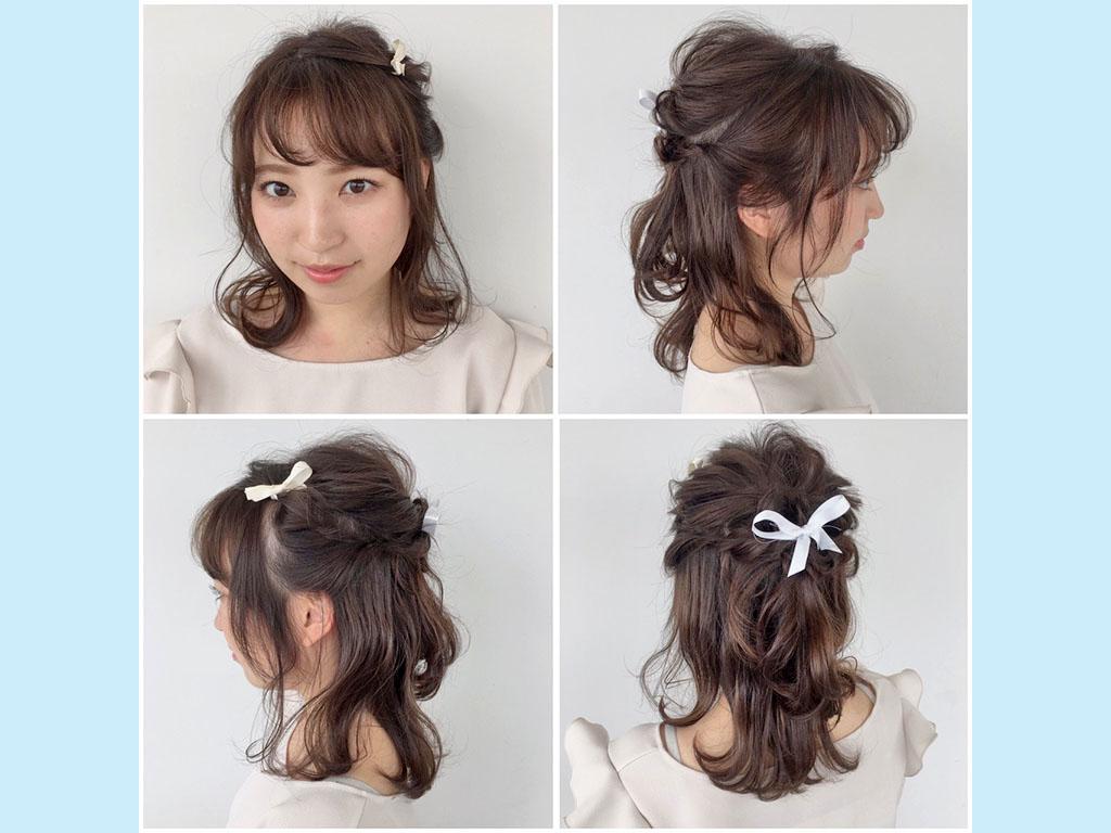 こなれ感がアップする秘訣は、前髪の質感とヘアアクセ♪