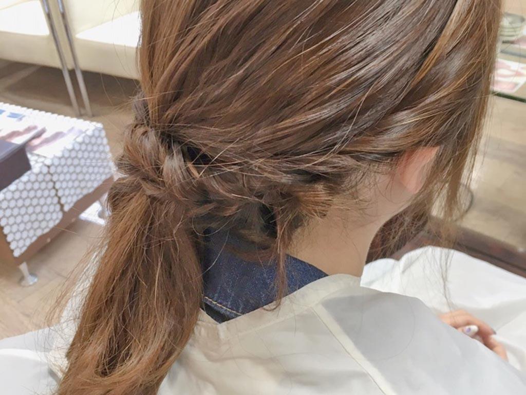 夏もすっきり♪まとめ髪の手順6