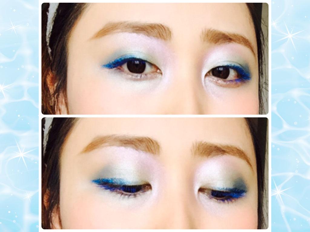 ブルーカラーがメインの人魚姫eyeで涼しげな印象に♪