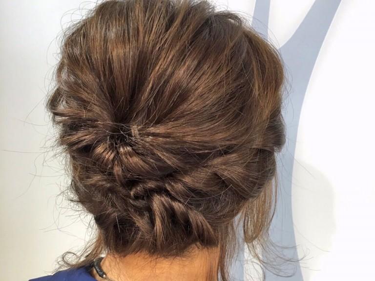 短くてもアップにできる♪3分でできるショートヘアのまとめ髪