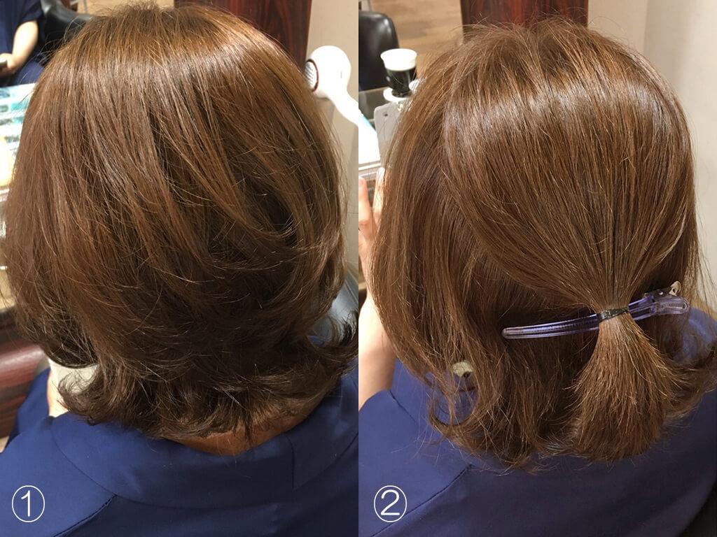 ショートヘアがキレイにフルアップに作れる手順