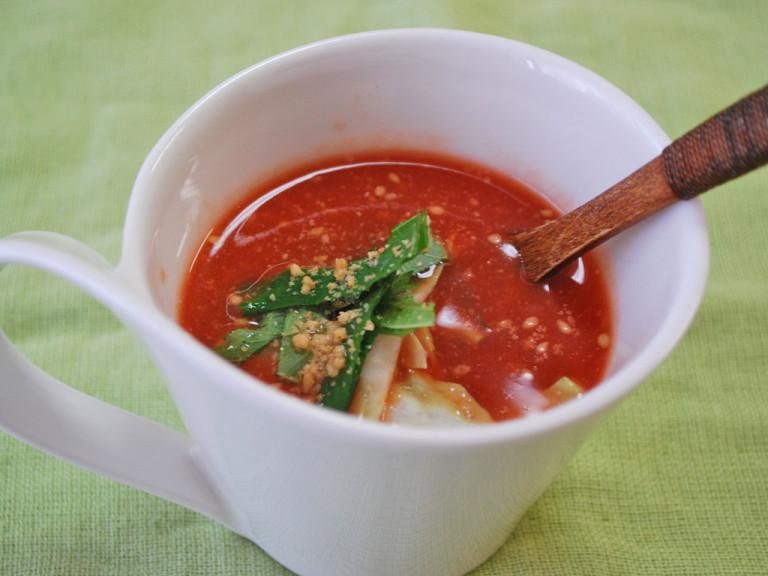 夏の美白にぴったり♪トマトの冷製味噌汁のレシピ