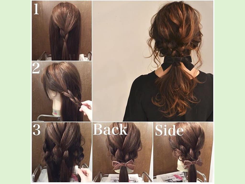 簡単3ステップ♪三つ編みヘアアレンジに挑戦♪