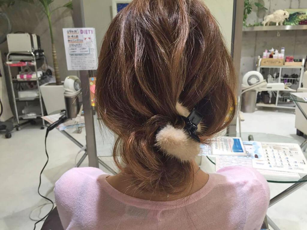 超簡単!まとめ髪アレンジの手順4