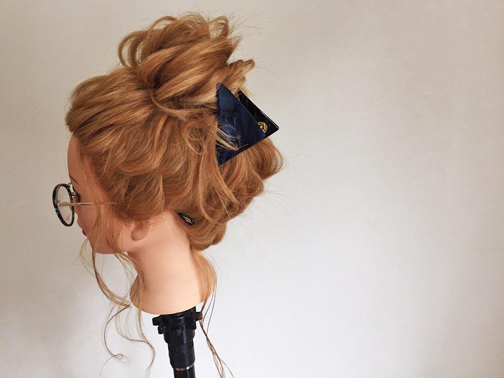 どこから見てもかわいいヘアアレンジの完成♪