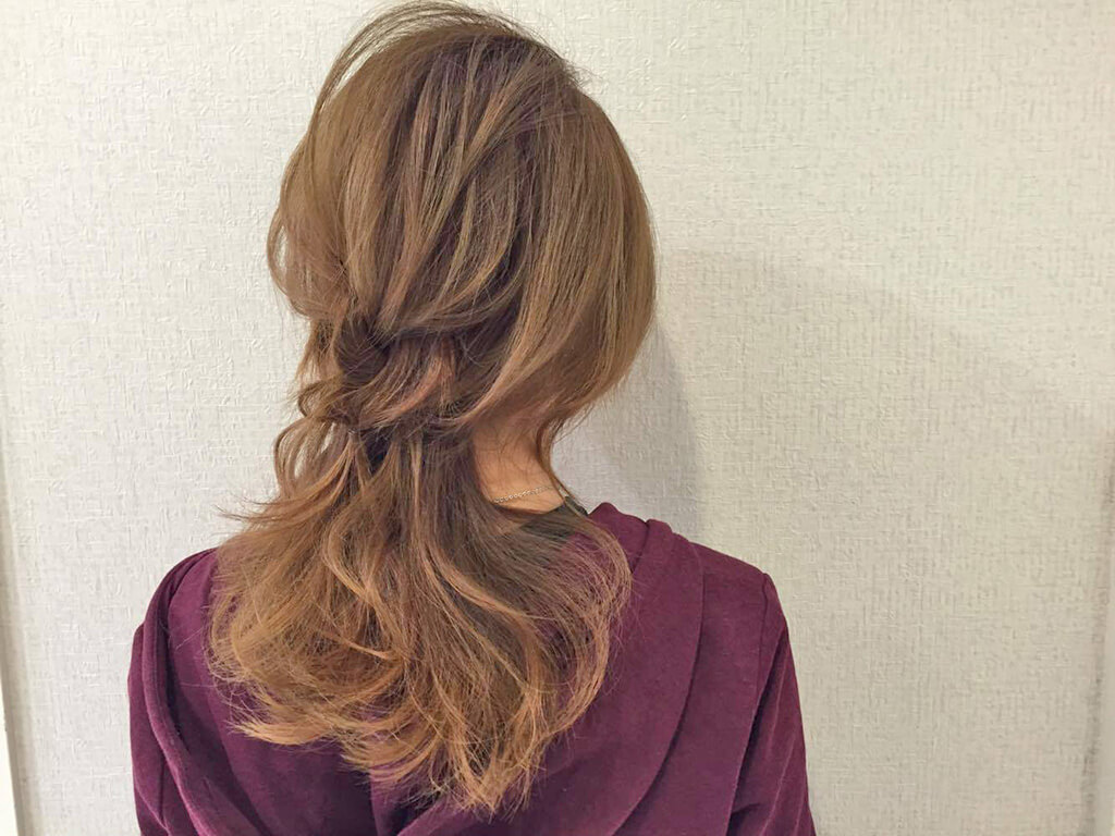 金曜:週の最後はちょっと華やかなハートのヘアアレンジ