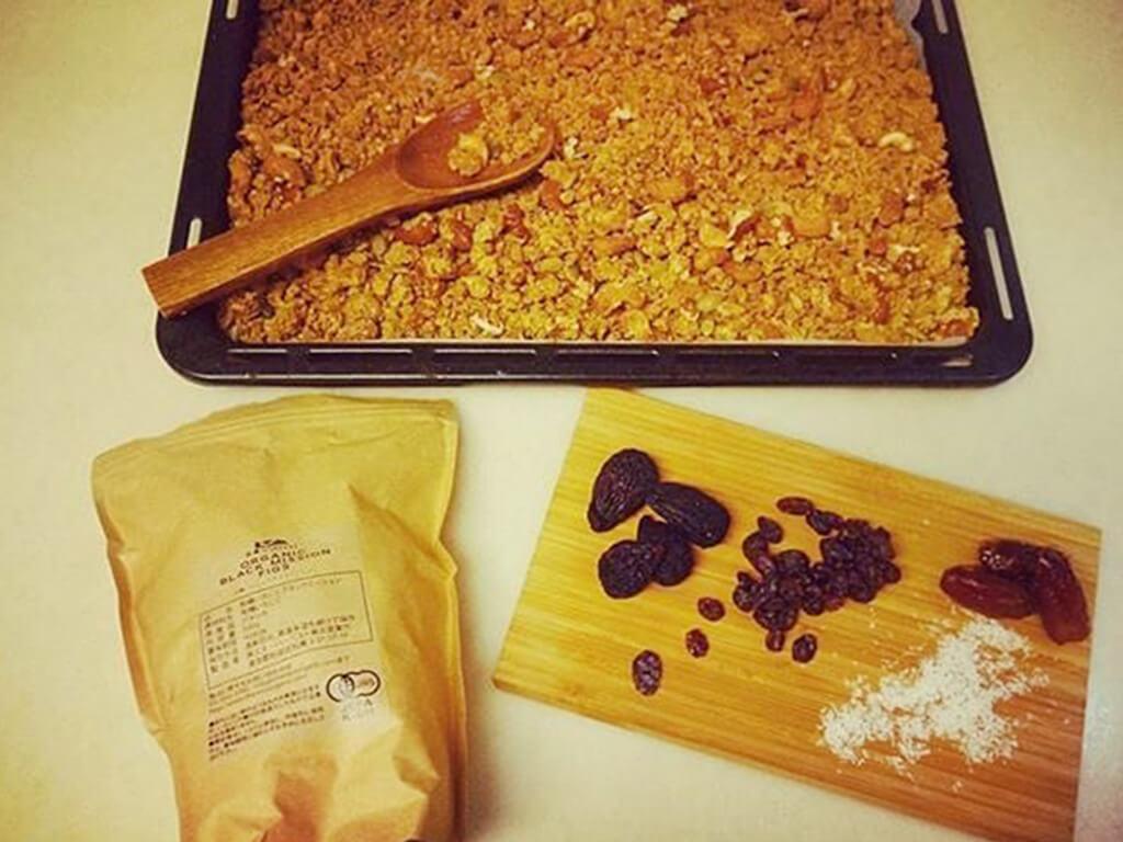 グルテンフリー米粉グラノーラの作り方
