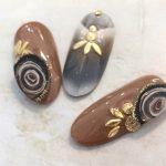 バリエーション豊富!マーブル縞模様の美しい天然石メノウネイル