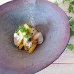 身近な材料でお家薬膳「柿のラペ チーズと帆立のマリネサラダ」