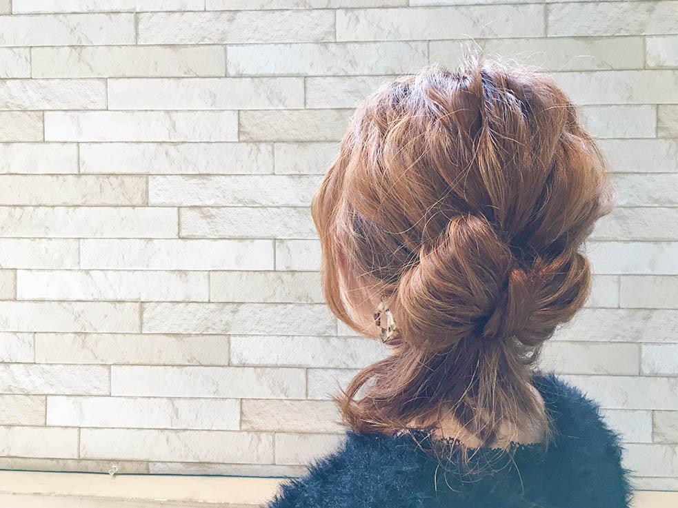 イベントに使える!自分の髪で作るリボンヘアアレンジ