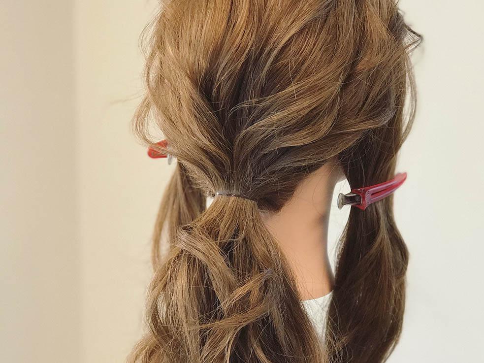 自分の髪で作ったリボンがインパクト大!!リボンヘアの作り方