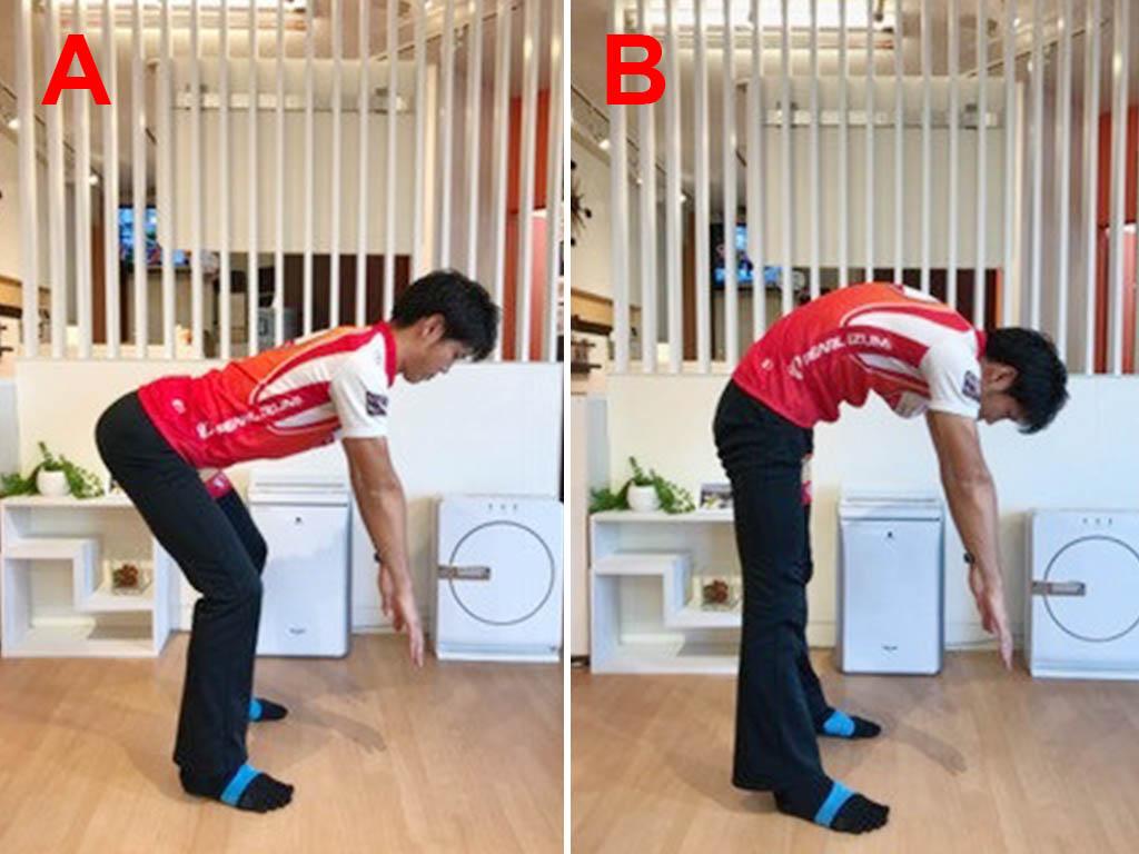 どっちが正解?立位体前屈の正しい姿勢