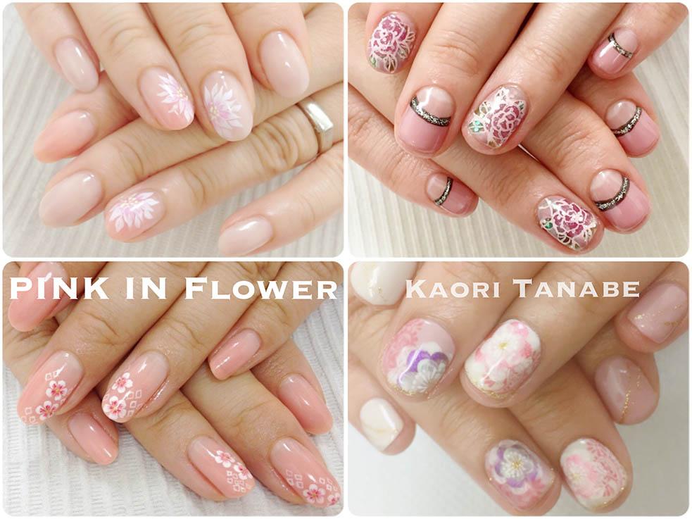 花咲くピンクネイル