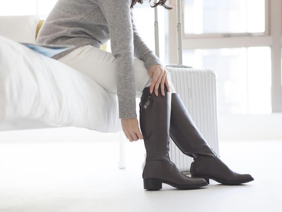 スッキリ美脚になるケア方法!ショートブーツが似合う足が、メイクの間にできちゃう