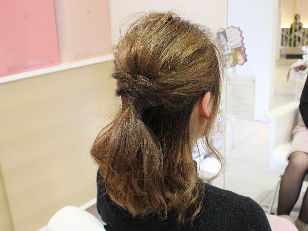 ロングボブの方にオススメ!伸ばしかけのヘアスタイルにぴったりなハーフアップスタイル!!