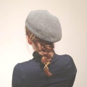 帽子に合う!編み込みがかわいいカジュアルスタイル