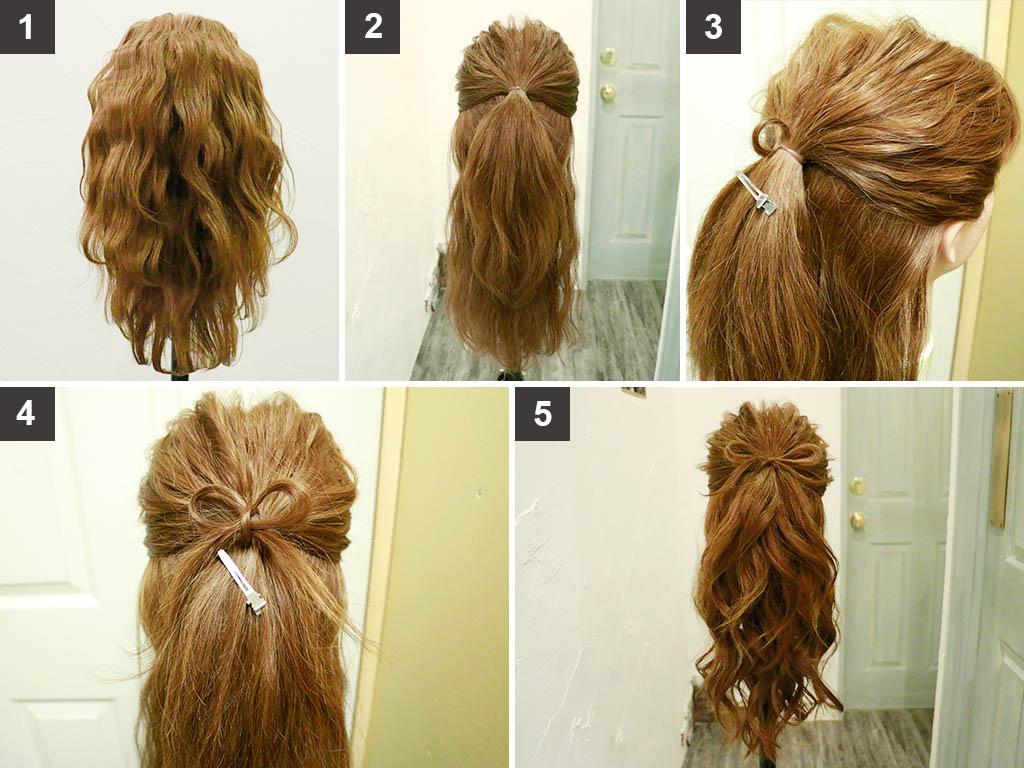 髪で作ったリボンが素敵!オトナのハーフアップヘアの作り方