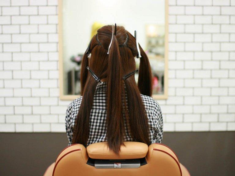 三つ編みをさらに三つ編みに☆パールアクセがかわいい編み込みヘアアレンジ!