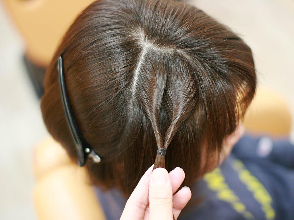 ショートヘアでも簡単!サイドの「編み込み風くるりんぱ」ヘアアレンジで大変身♪
