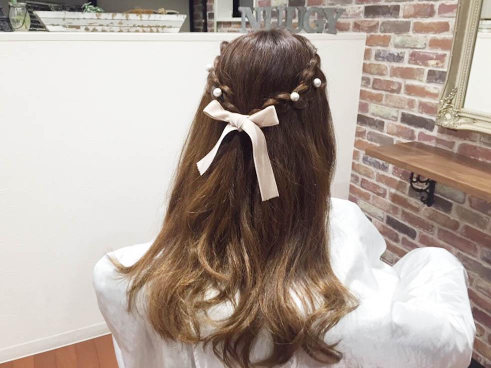 鬱陶しい伸ばしかけの前髪を解消する!簡単三つ編みハーフアップが清楚でかわいい☆