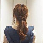 アレンジ初心者さん向けヘアアレンジ☆簡単3ステップのローポニーテールスタイル