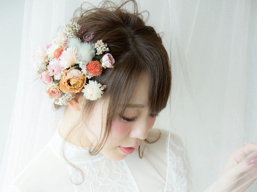 お花髪飾りの使い方② ベーシックな王道使い