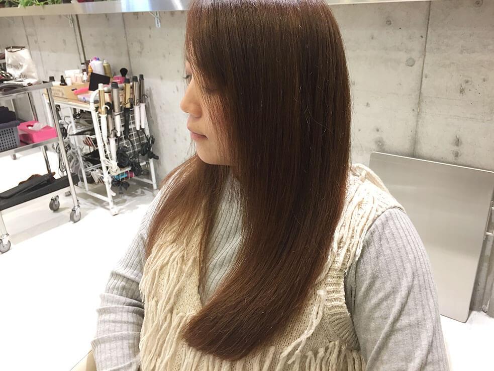 ブローで普段の髪がツヤ髪に変わります