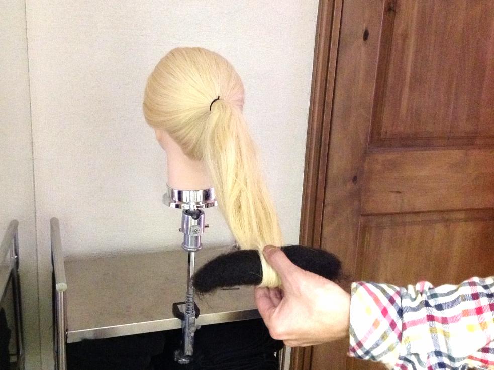 梳き毛(毛たぼ)を使ったボリュームお団子の作り方